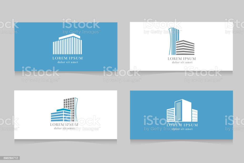 real estate logo with business card template design アイコンの