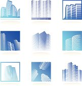 real estate logos set