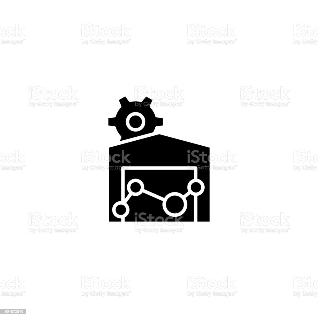 Real estate market black icon concept. Real estate market flat  vector symbol, sign, illustration. royalty-free real estate market black icon concept real estate market flat vector symbol sign illustration stock vector art & more images of abstract