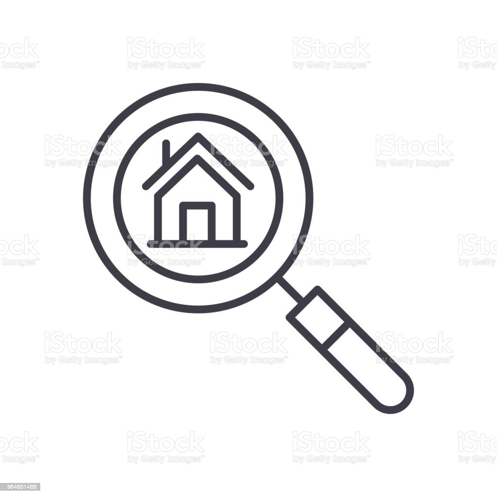 Real estate market research black icon concept. Real estate market research flat  vector symbol, sign, illustration. royalty-free real estate market research black icon concept real estate market research flat vector symbol sign illustration stock vector art & more images of apartment