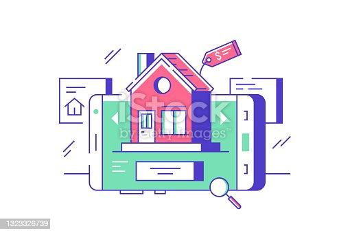 Real estate online sale or rent