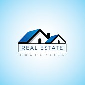 Real estate property realty logo vector template. Template for cottage, bungalow, farm house, villa.