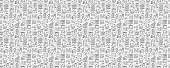 Real Estate Related Seamless Pattern and Background with Line Icons