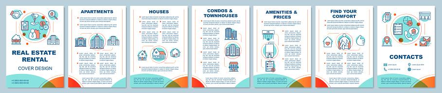Real estate rental brochure template layout