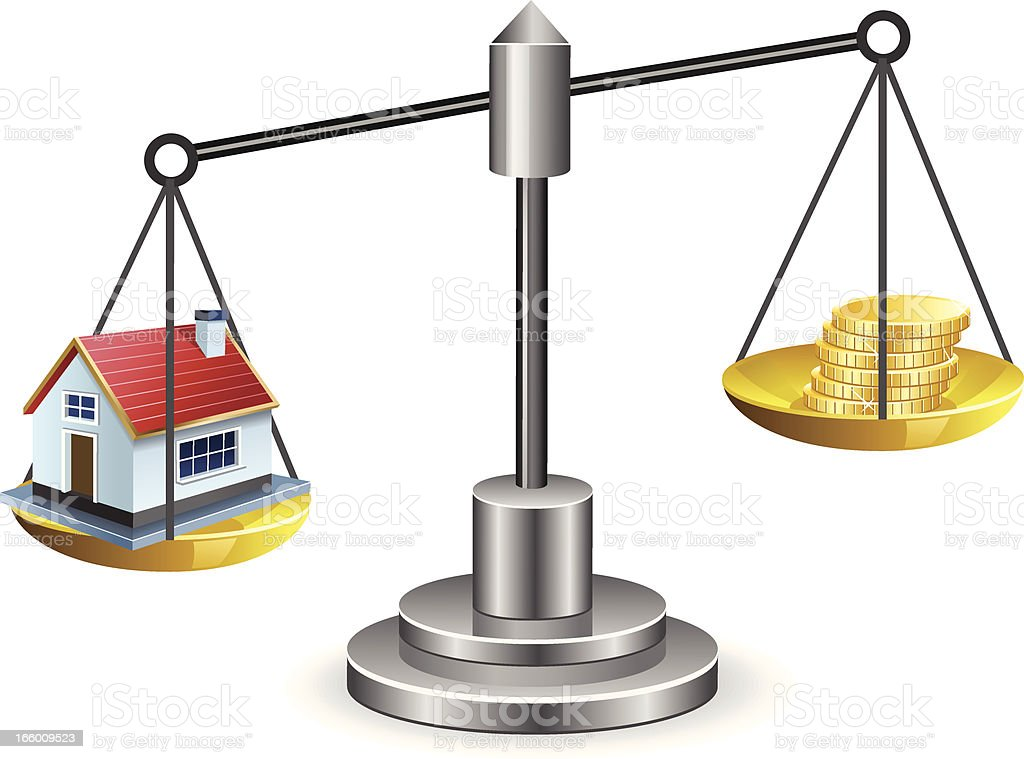 Real Estate Scale royalty-free real estate scale stock vector art & more images of balance