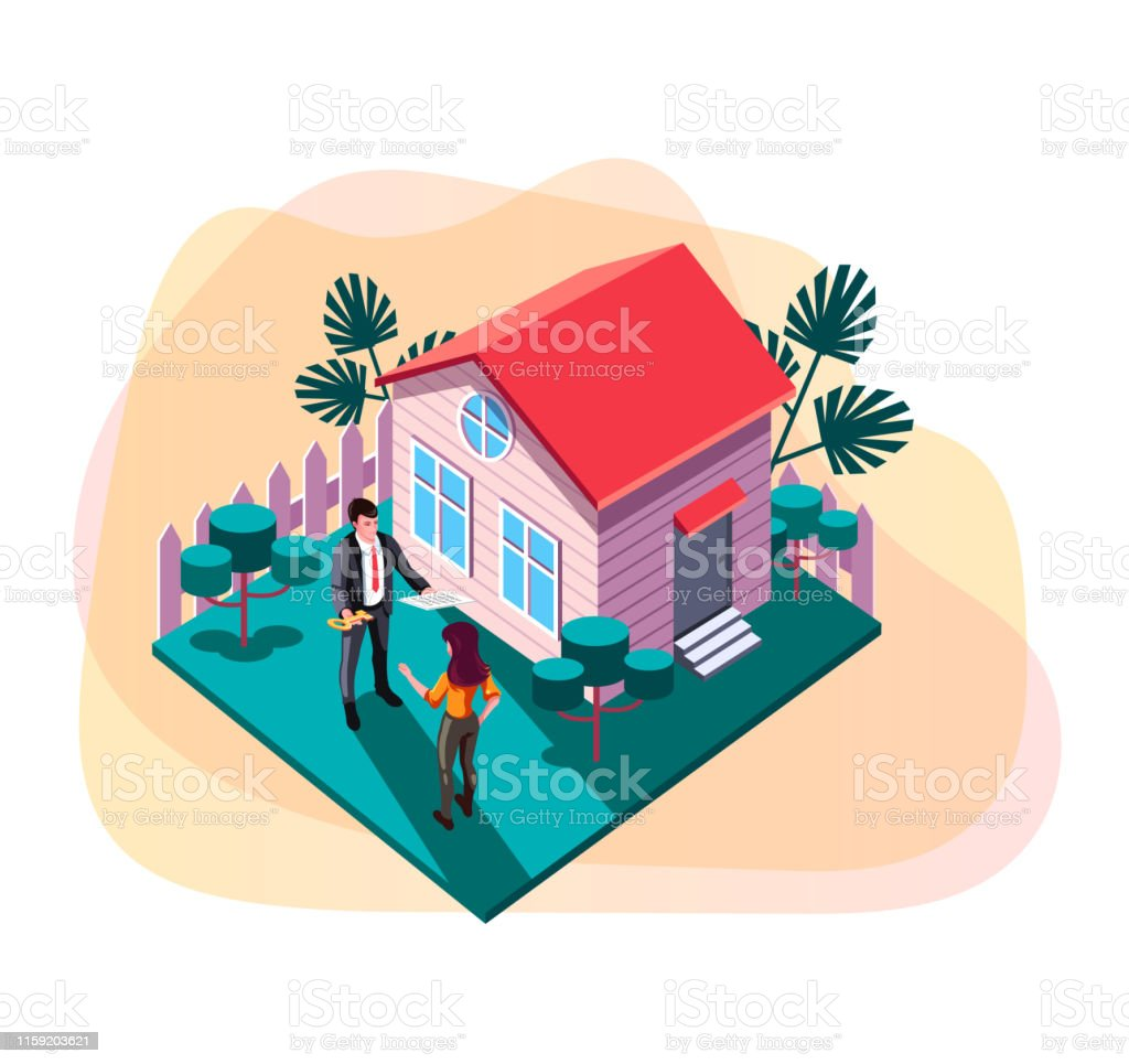 Real Estate Sell And Rent Property House Concept Vector Design Graphic Flat Cartoon Web Page Loading Banner Illustration Stock Illustration Download Image Now Istock