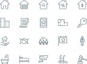 Real estate set of vector icons