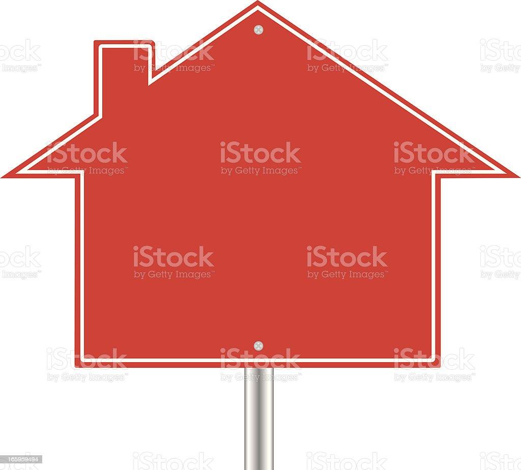 Real Estate Sign Blank vector art illustration