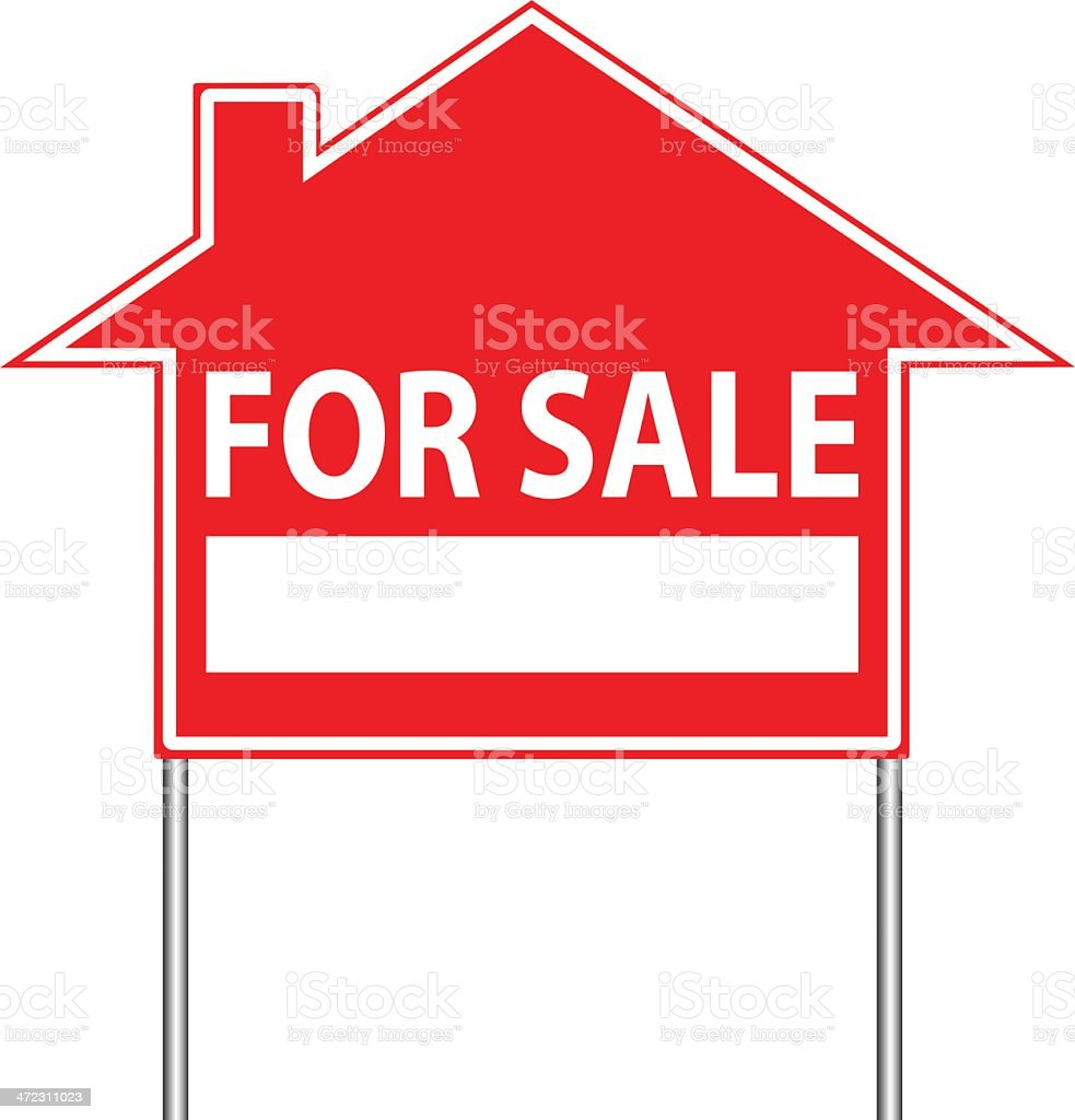 real estate houses clipart. real estate sign vector art illustration for rent house houses clipart