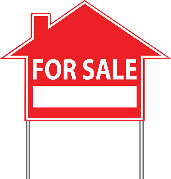 Royalty free home for sale clip art vector images for Clipart estate