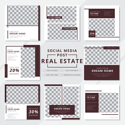 Real estate social media post templates