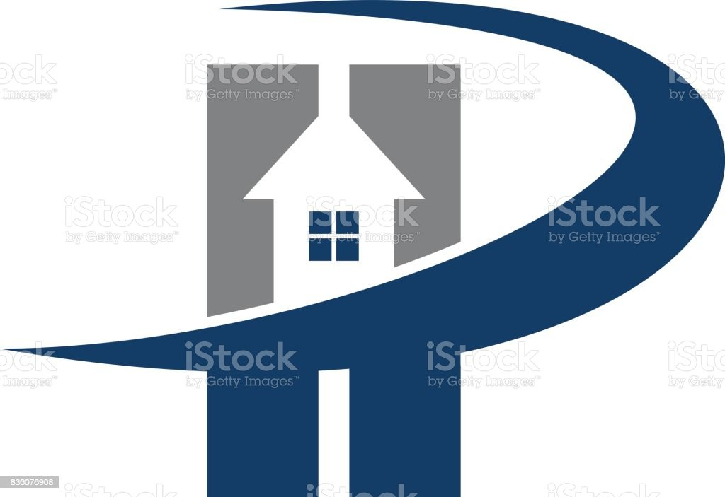 Real Estate Solution Letter P vector art illustration