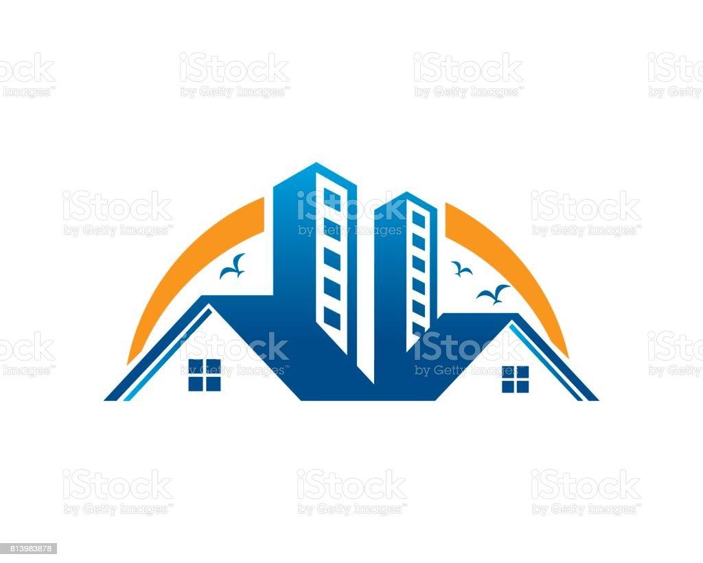 Bienes Raíces Símbolo Plantilla Diseño Vector Emblema Concepto ...