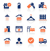 Real Estate Two Color Icons Set