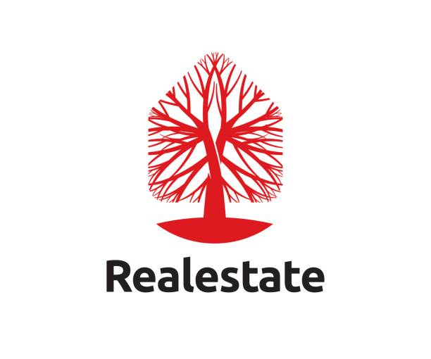 real estate vector icon - target australia stock illustrations
