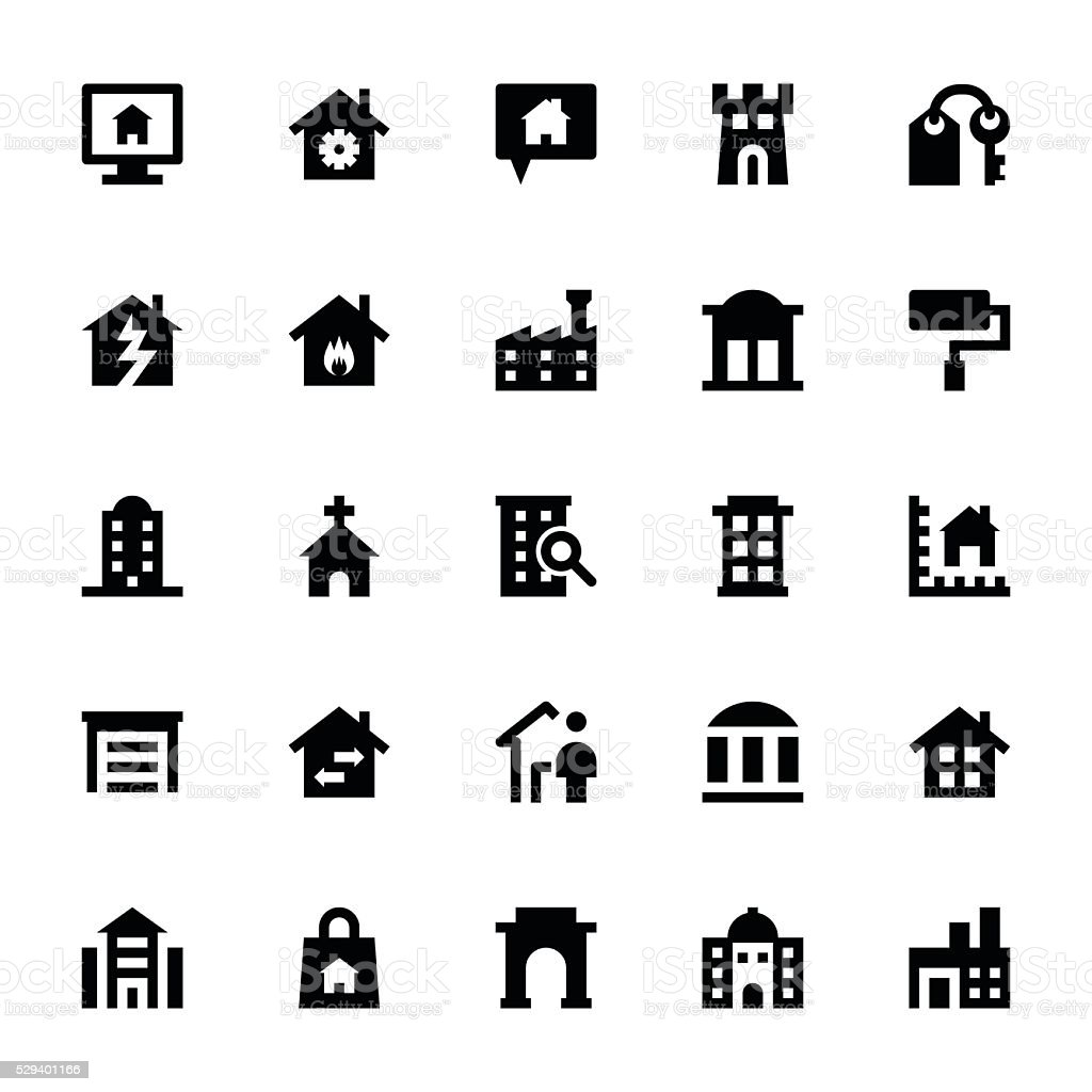 Real Estate Vector Icons 2 vector art illustration