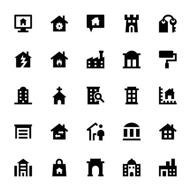 real estate vektor-icons 2 - hauswirtschaft stock-grafiken, -clipart, -cartoons und -symbole