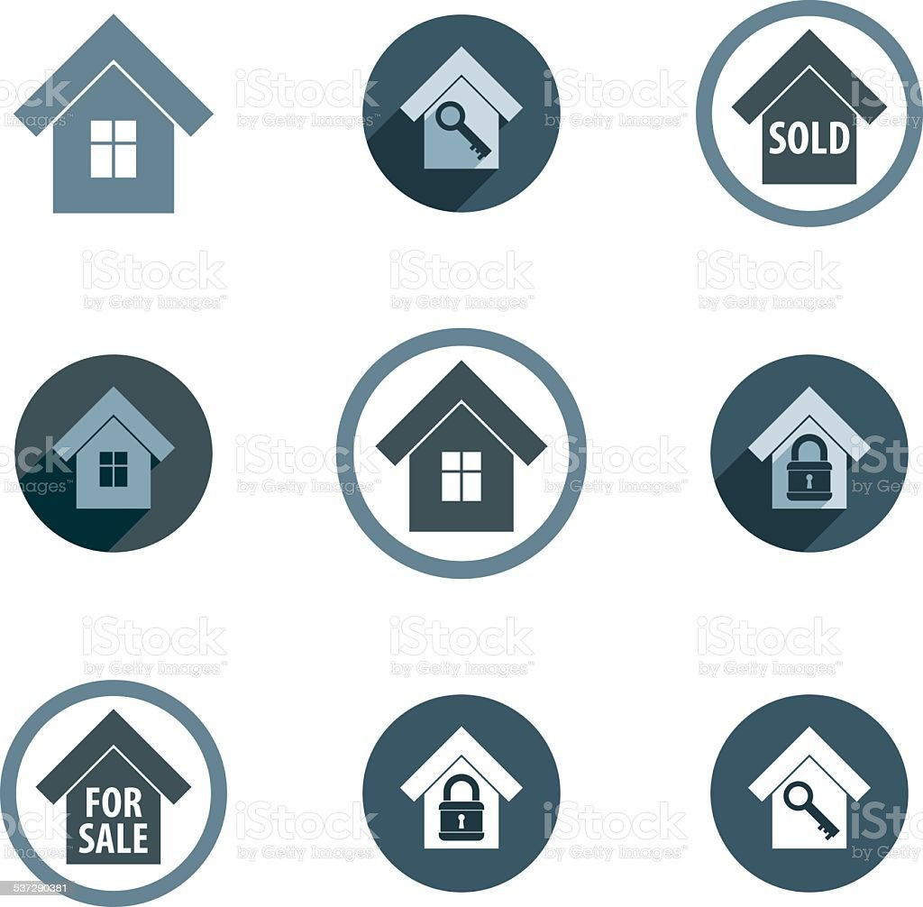 Real estate vector icons set realty vector symbols collection real estate vector icons set realty vector symbols collection royalty free real estate vector biocorpaavc Image collections