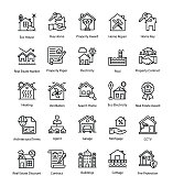 Real Estate Vector Icons Set