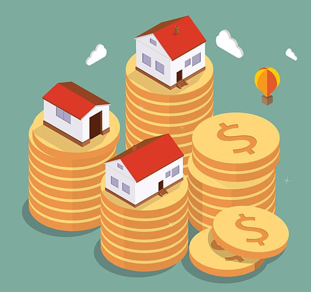 illustrazioni stock, clip art, cartoni animati e icone di tendenza di proprietà immobiliare - real life