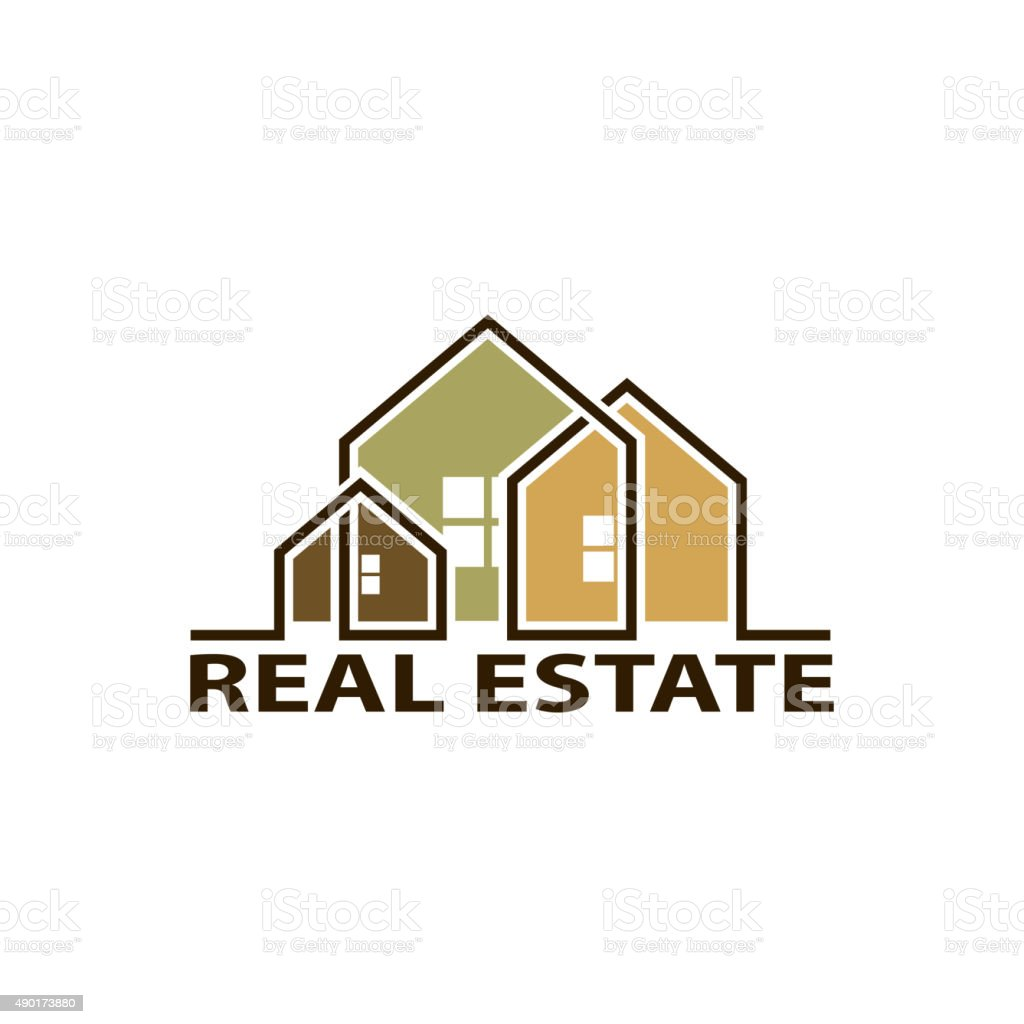 real estate. vector art illustration
