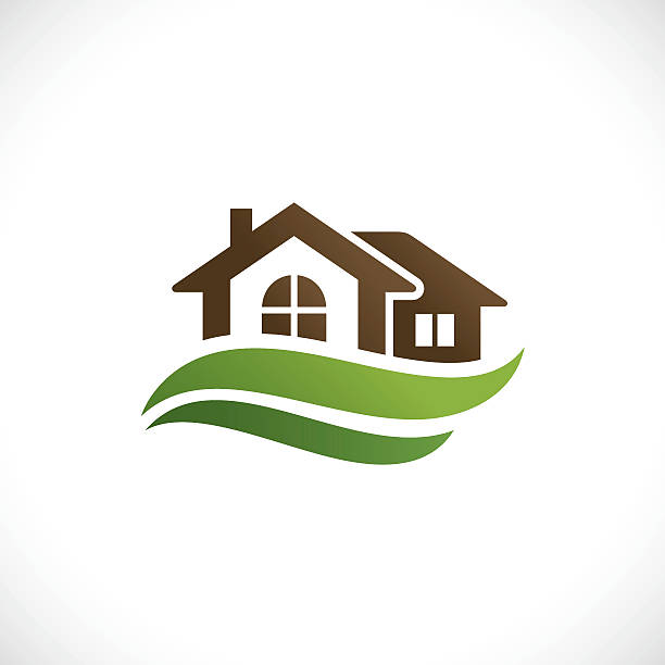 Real estate Real estate icon cottage stock illustrations