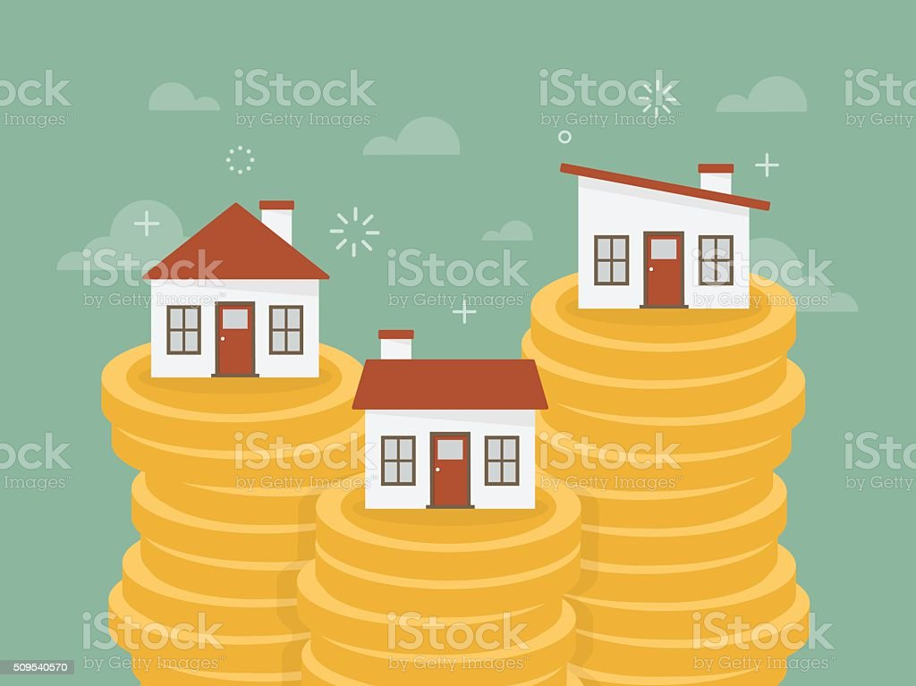 Real estate vector art illustration