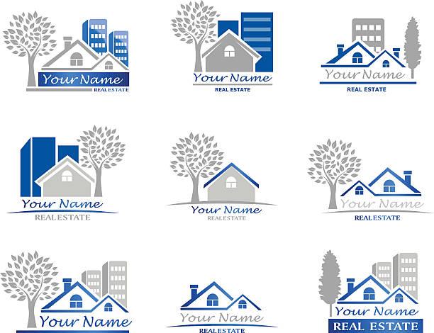 immobilien - landhaus stock-grafiken, -clipart, -cartoons und -symbole