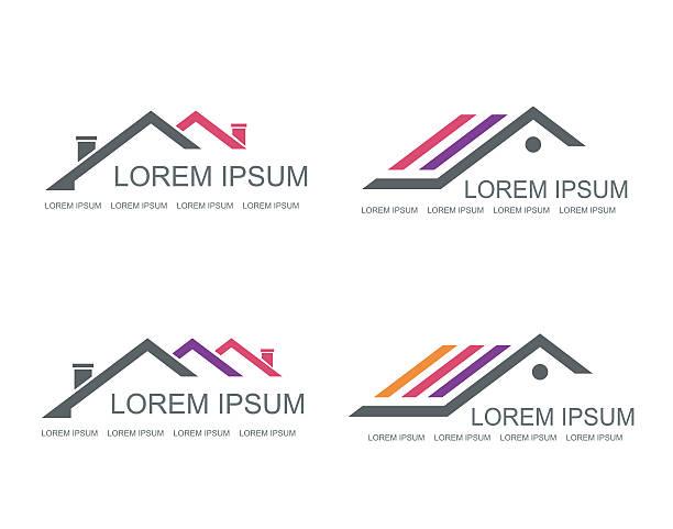 Immobilien-Vektor-logo-design-Vorlage. – Vektorgrafik