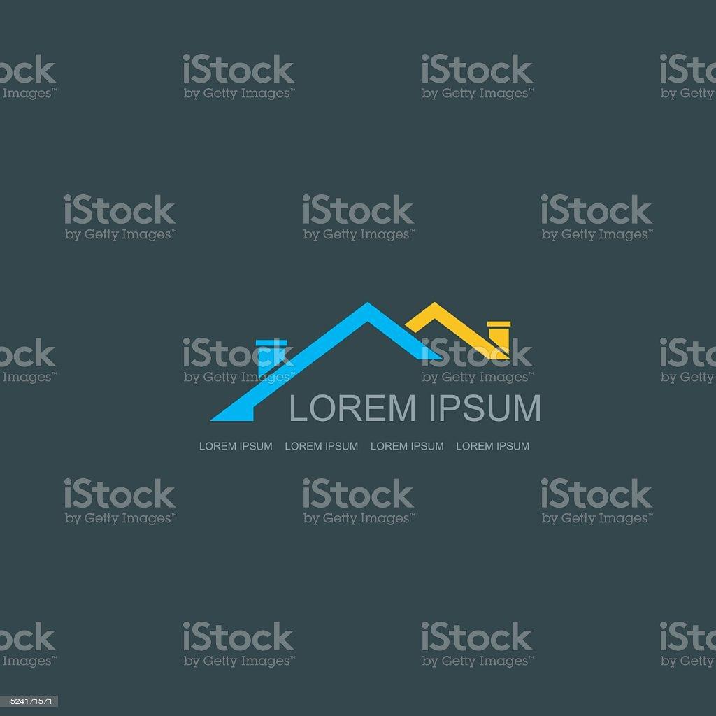 Real Estate vector logo design template. vector art illustration