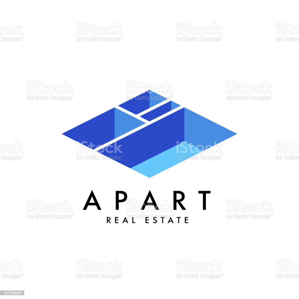 Real estate vector logo design template vector art illustration