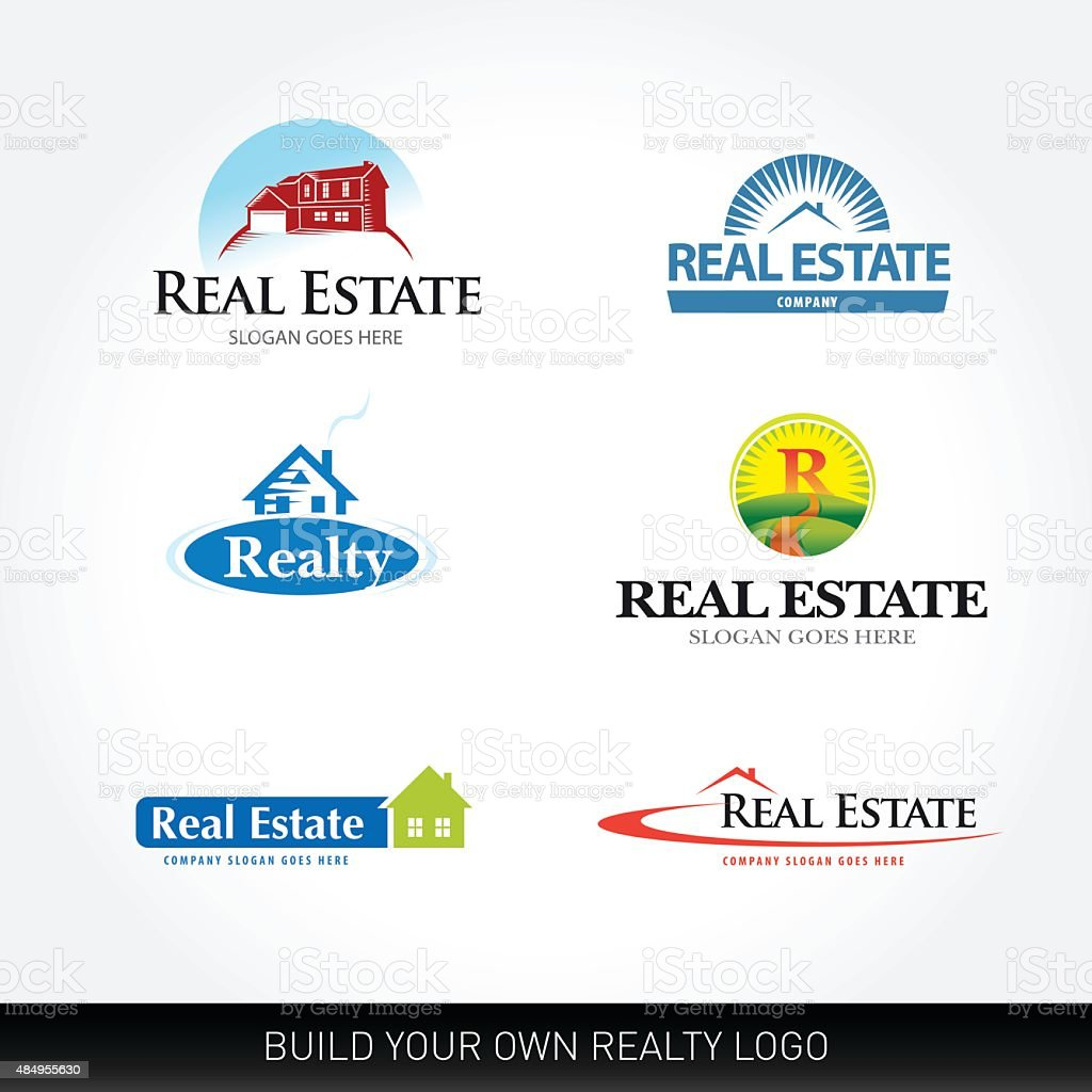 Real estate vector set. Real Estate design template. vector art illustration