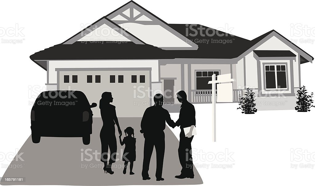 Real Estate Vector Silhouette royalty-free stock vector art