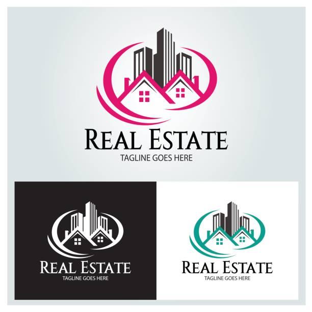 real estate vector - real estate logos stock illustrations, clip art, cartoons, & icons
