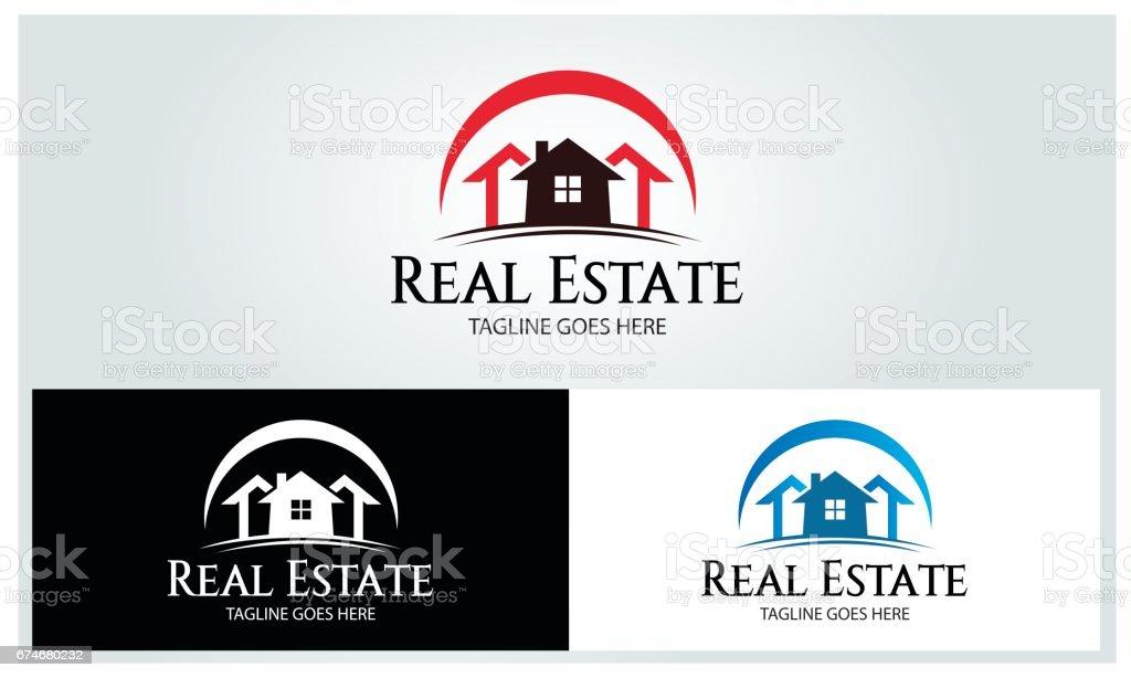 Real immobilier illustration - Illustration vectorielle