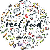 Circular design of real food drawings