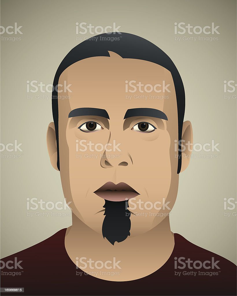 Real guy vector art illustration