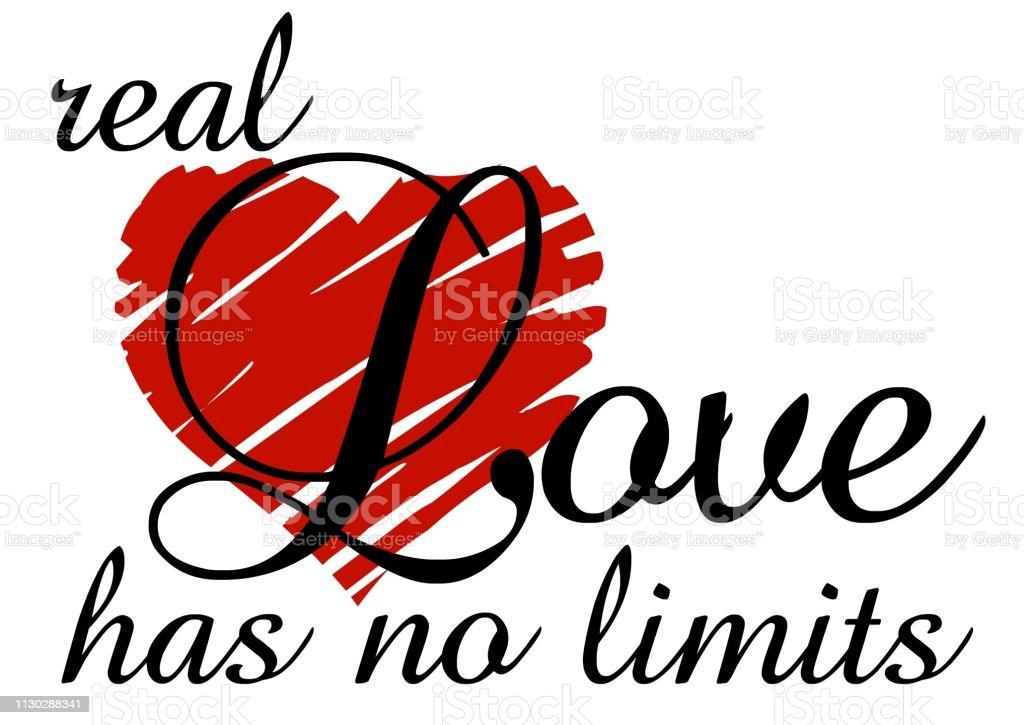 Echte Liefde Kent Geen Grenzen Stockvectorkunst En Meer