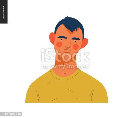 istock Real people portraits - brunette man 1167057710