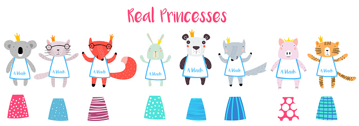 Real Princesses Animal Characters Constructor