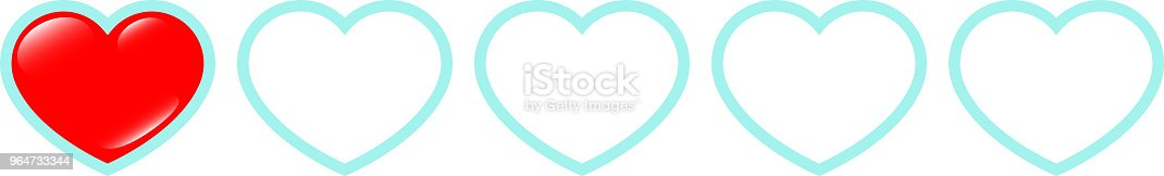 Real Red Heart Life Gauge 1 Stock Vector Art & More Images of Abstract 964733344