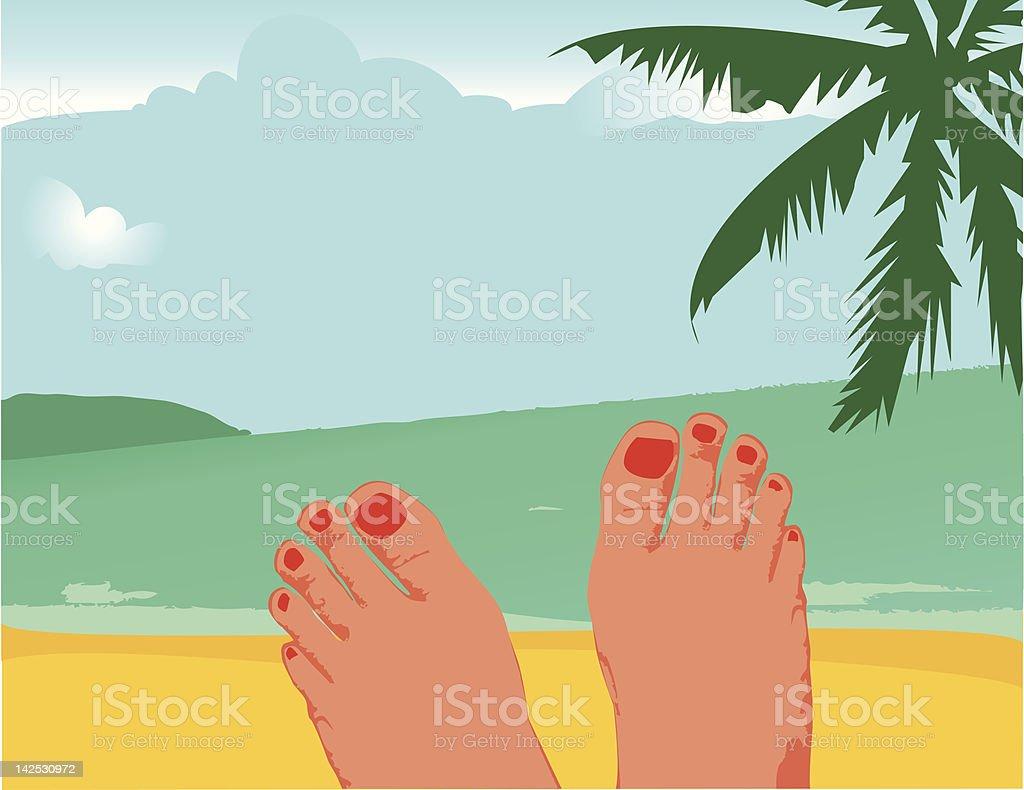 Real Spirit of Vacation royalty-free stock vector art