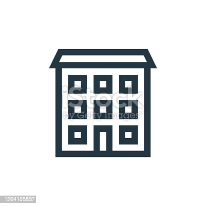 istock real state vector icon isolated on white background. Outline, thin line real state icon for website design and mobile, app development. Thin line real state outline icon vector illustration. 1264165837
