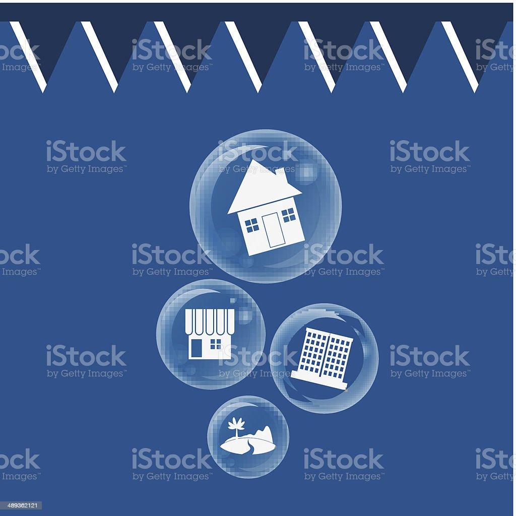 Realestate Bubble Burst For Economic Bubble Concept Stock Vector Art ...