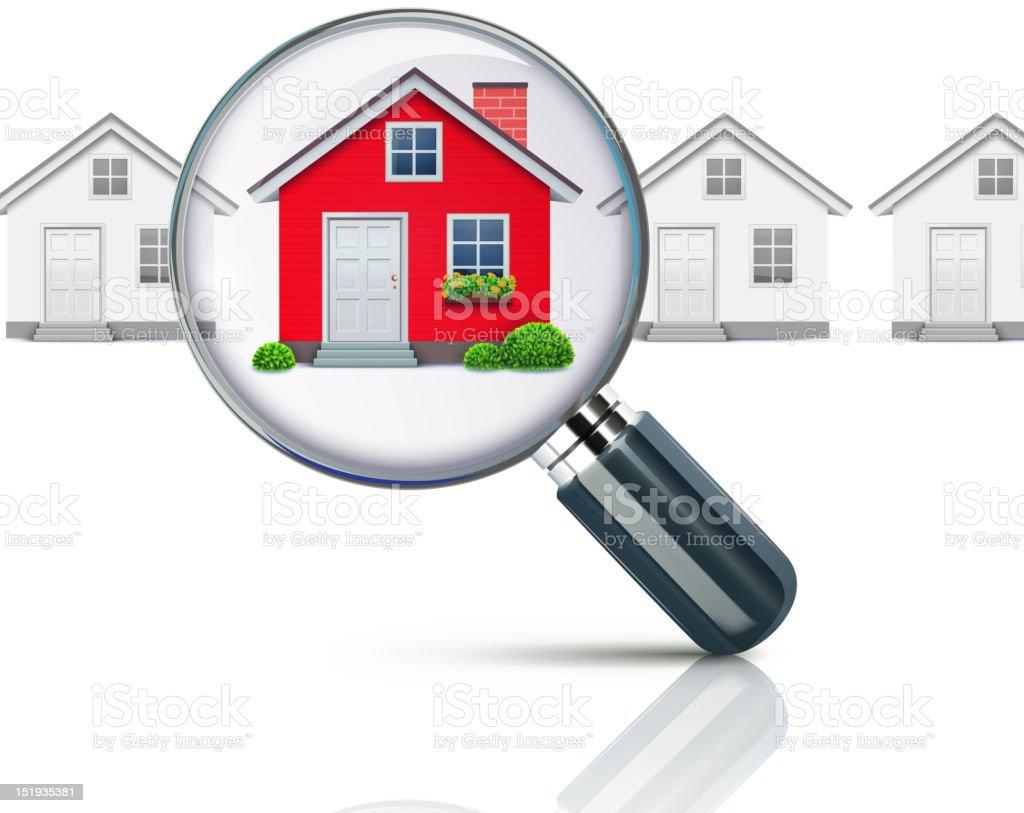 real-estate concept vector art illustration