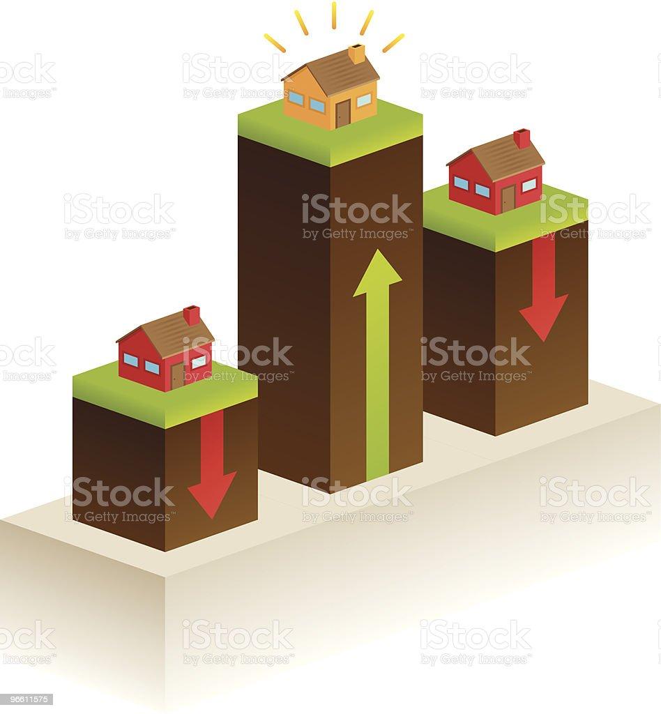Real-estate market royalty-free stock vector art