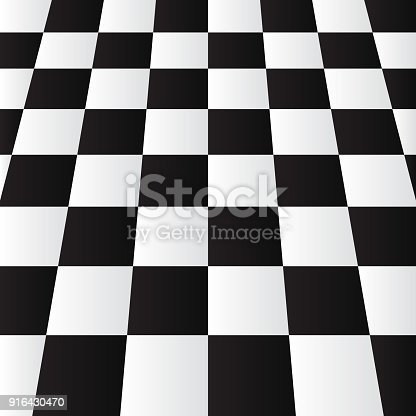 Realictic Modern Black White Chess Or Checker Board Perspective ...