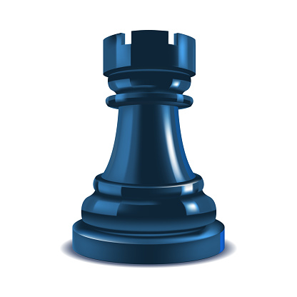 Realistic 3d Chess Rook. Vector