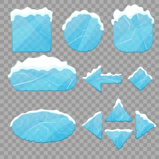 realistische 3d detaillierte eis tasten set. vektor - gefroren stock-grafiken, -clipart, -cartoons und -symbole
