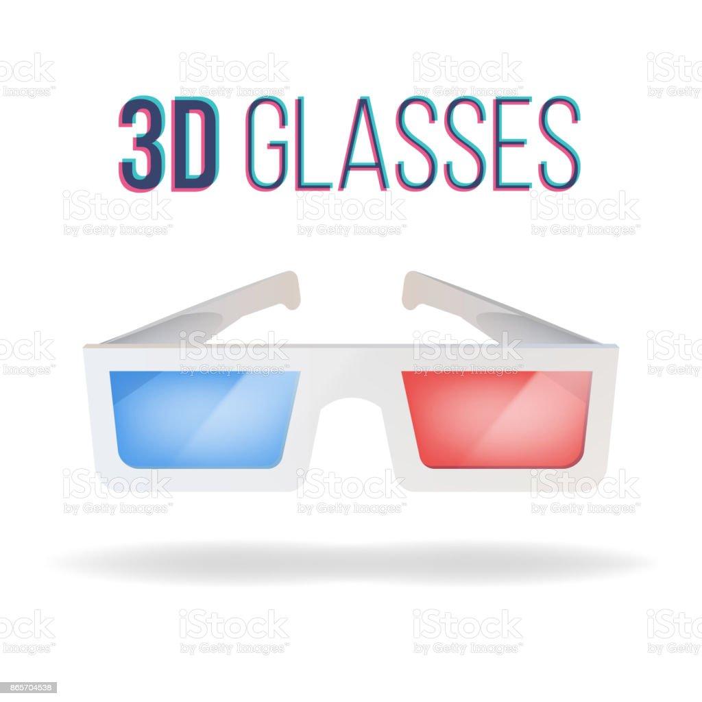 Realistische 3d Brille Vektor Rot Blau Papierkino 3d Brille Isoliert Auf Weissem Hintergrund Illustration Stock Vektor Art Und Mehr Bilder Von Anaglyphenbild Istock